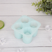 Four Holes Silicone Ice Glass with Lids