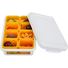 Customized Color Portable Food Storage Container with White Cover